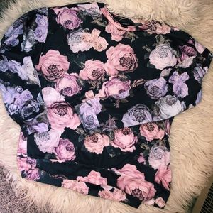 Floral crew neck sweater